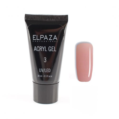 "Акрил гель Elpaza Professional №3 ""Acryl Gel"" UV/LED 30мл"